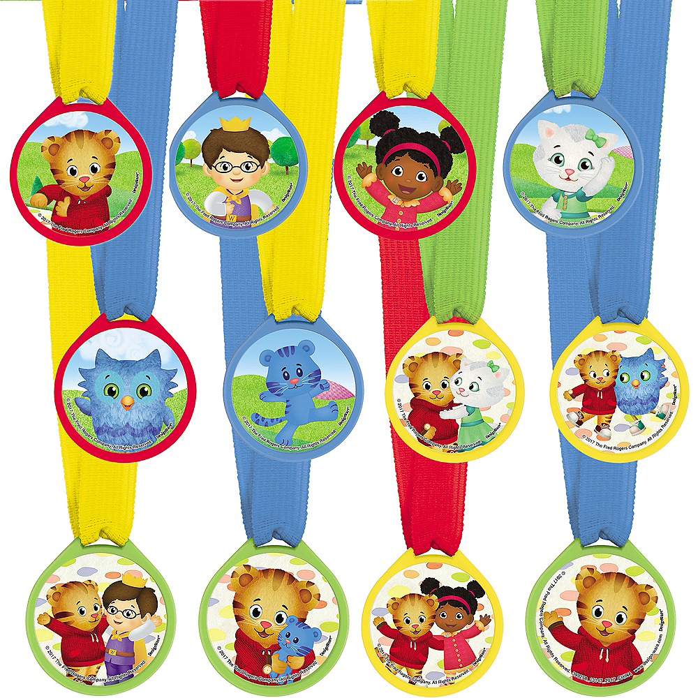 Nav Item for Daniel Tiger's Neighborhood Award Medals 12ct Image #1