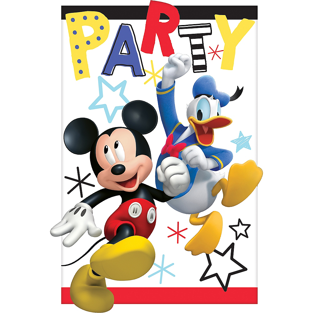 Mickey Mouse Invitations 8ct Image 1