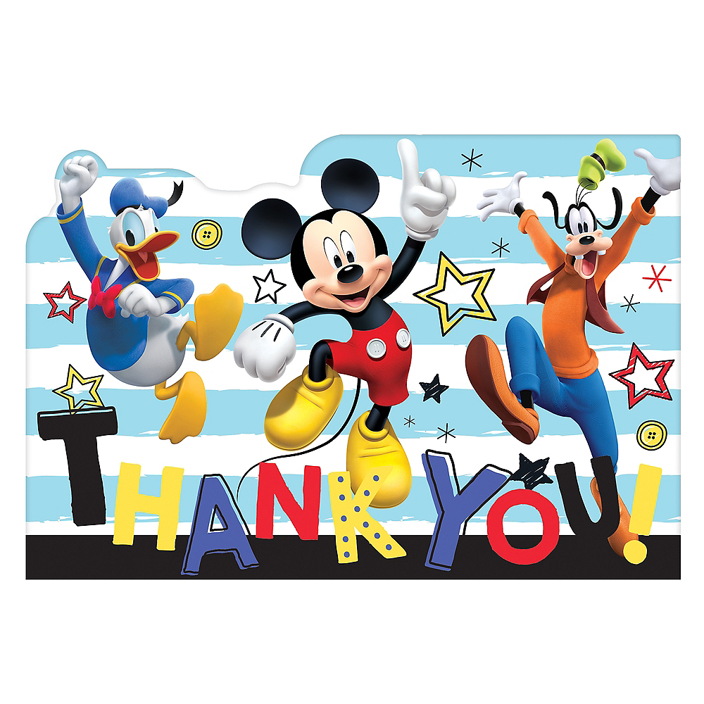 Mickey Mouse Thank You Notes 8ct Image #1