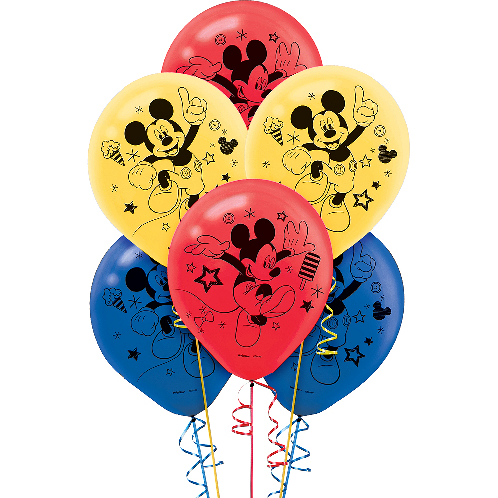 Mickey Mouse Balloons 6ct Image #1