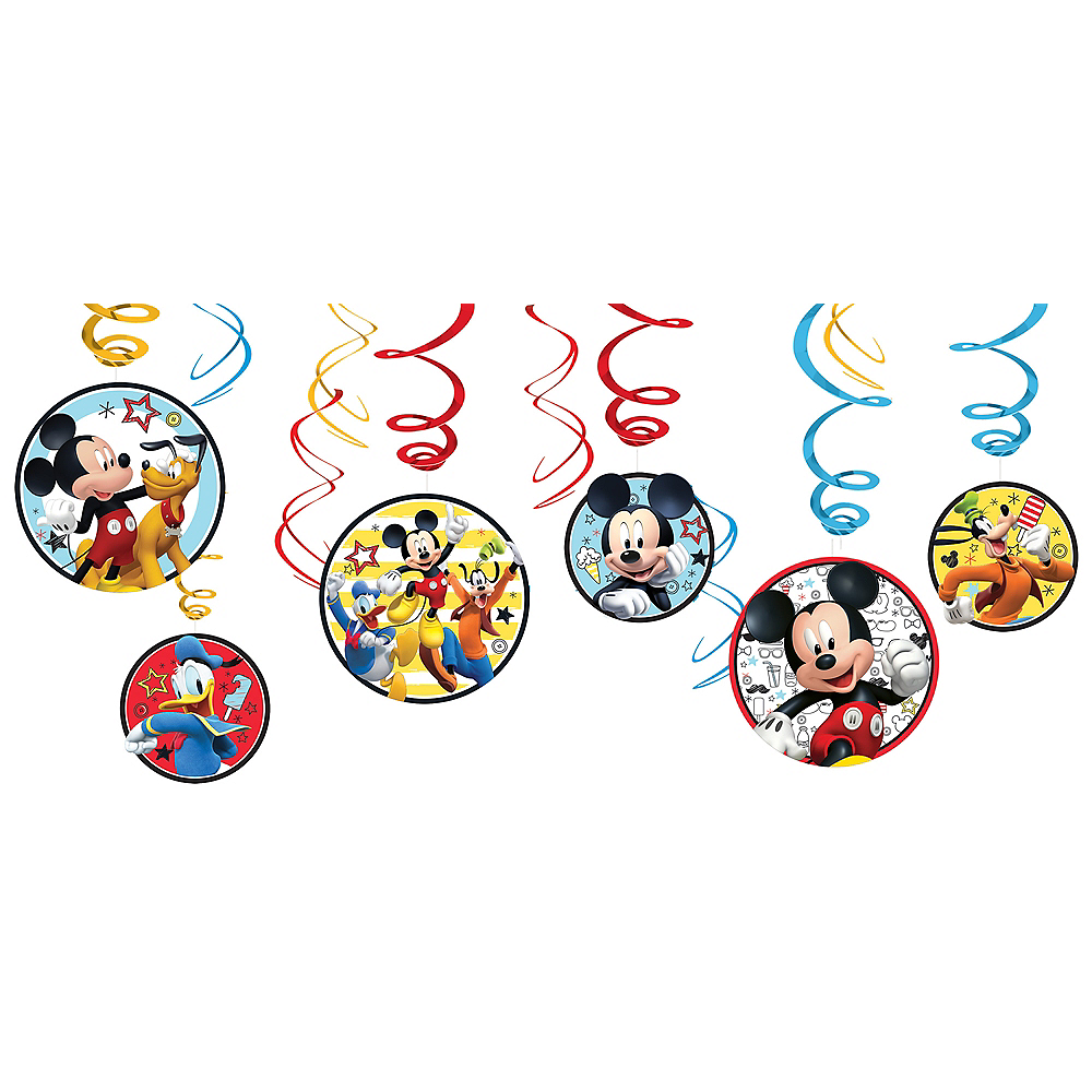 Mickey Mouse Swirl Decorations 12ct Image #1