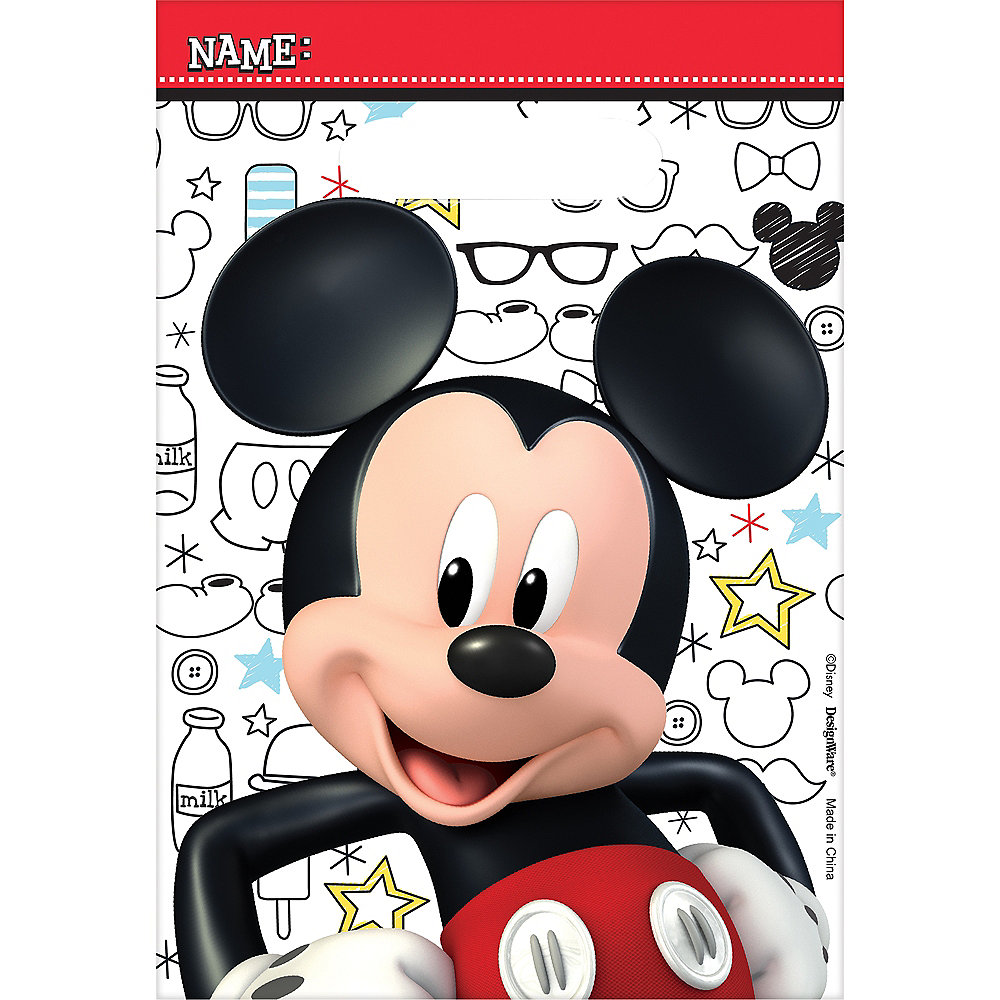 Mickey Mouse Favor Bags 8ct Image 1