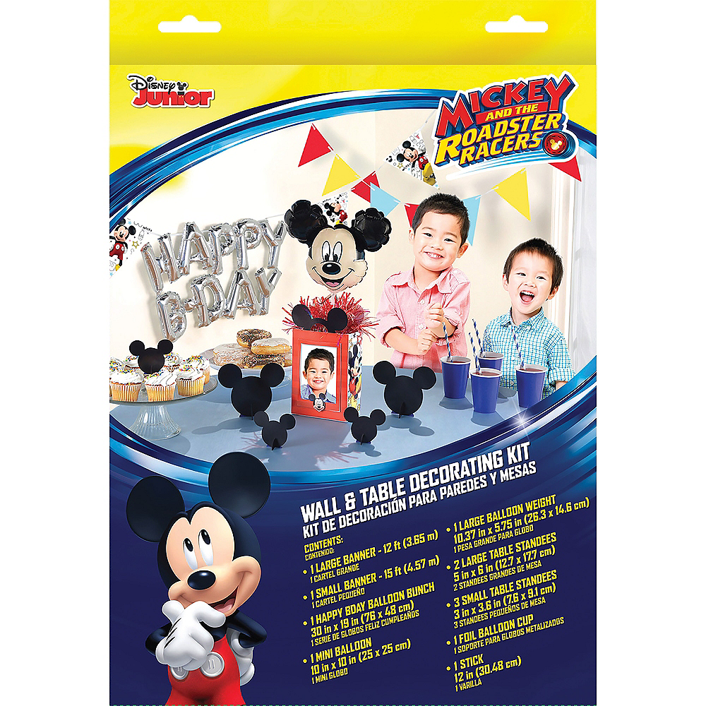 Mickey Mouse Birthday Wall & Table Decorating Kit 12pc Image #1