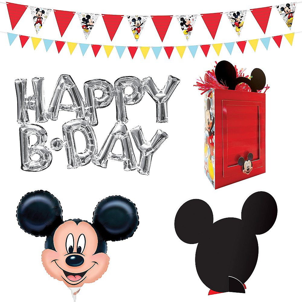Mickey Mouse Birthday Wall & Table Decorating Kit 12pc Image #2