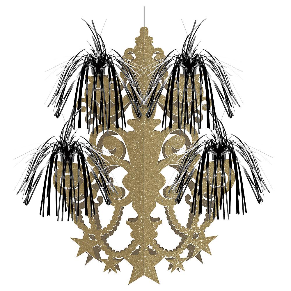 Glitter Gold Cascade Chandelier Image #1