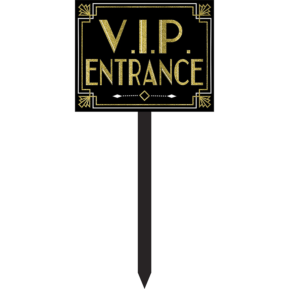 Glitter Hollywood VIP Entrance Yard Stake Image #1