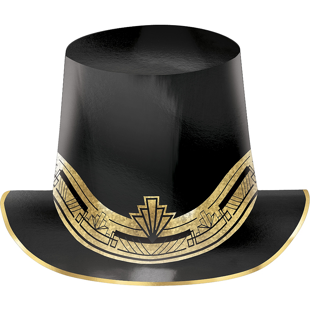 Metallic Hollywood Top Hat Image #1