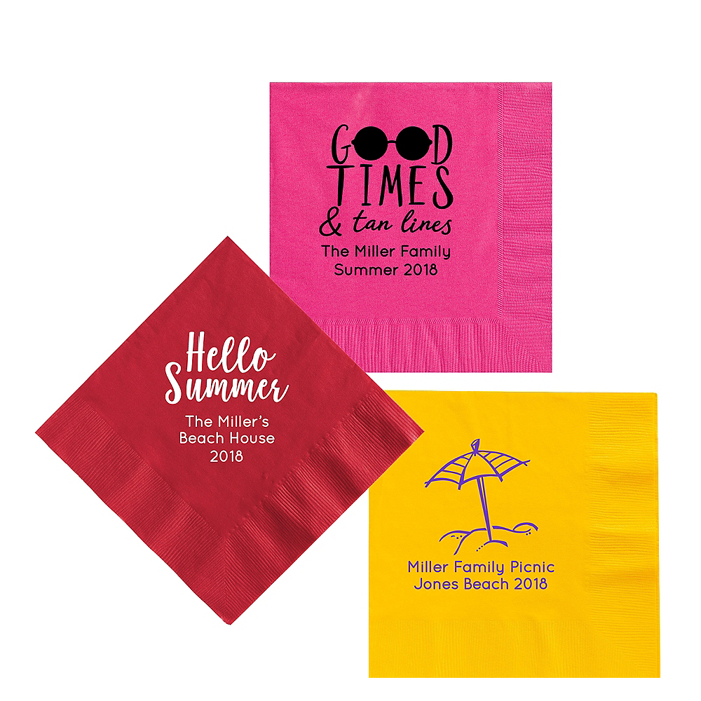 Personalized Summer Lunch Napkins Image #1