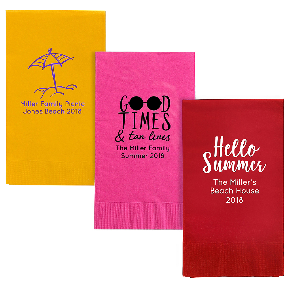 Personalized Summer Guest Towels Image #1