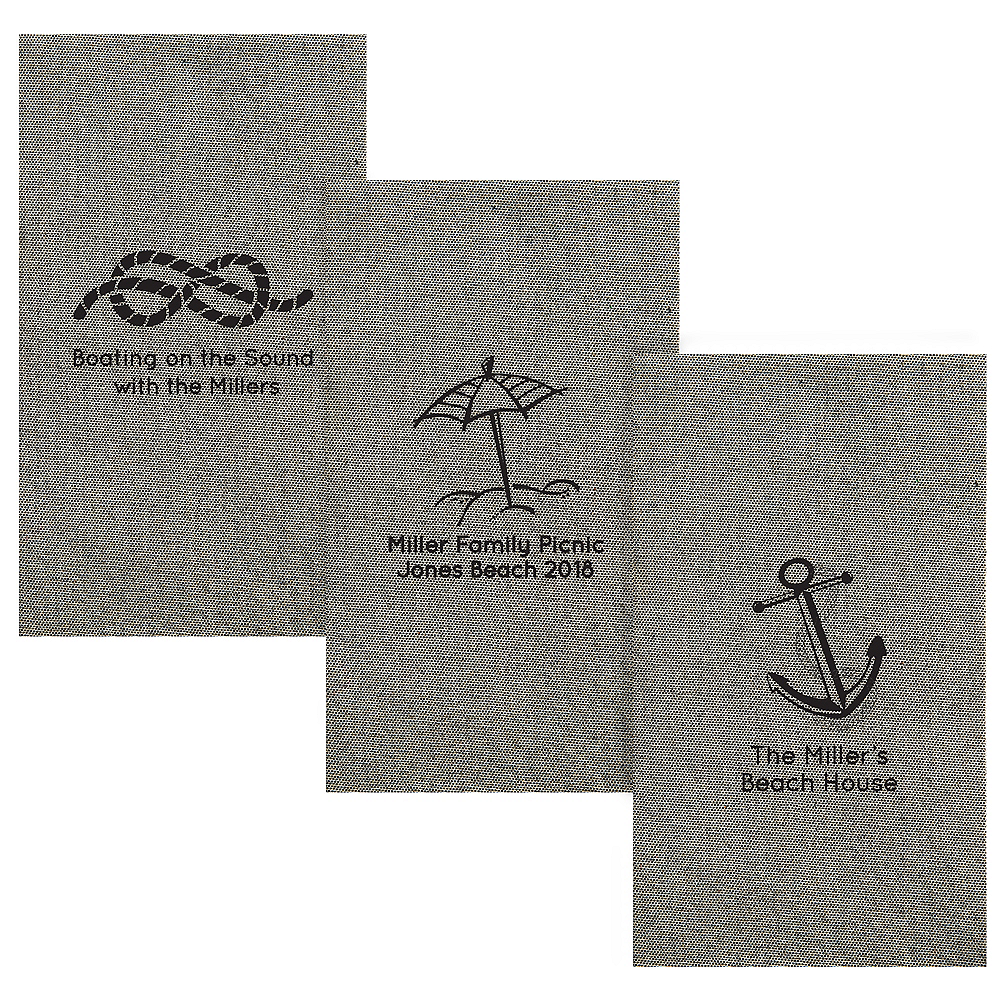 Personalized Summer Tweed Print Guest Towels Image #1