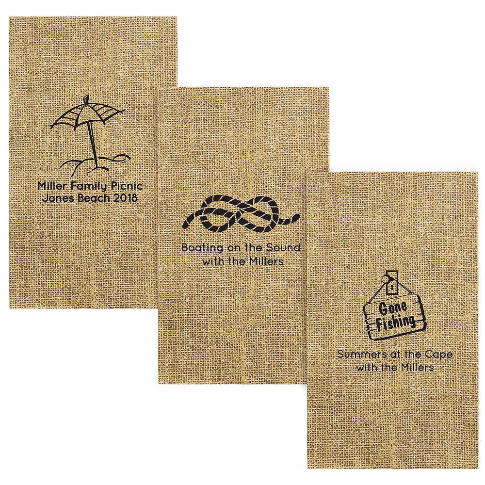 Personalized Summer Burlap Print Guest Towels Image #1