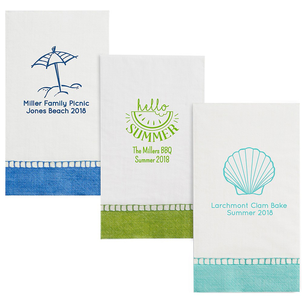 Personalized Summer Bordered Guest Towels Image #1