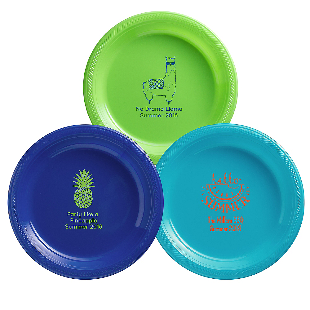 Personalized Summer Plastic Dinner Plates Image #1