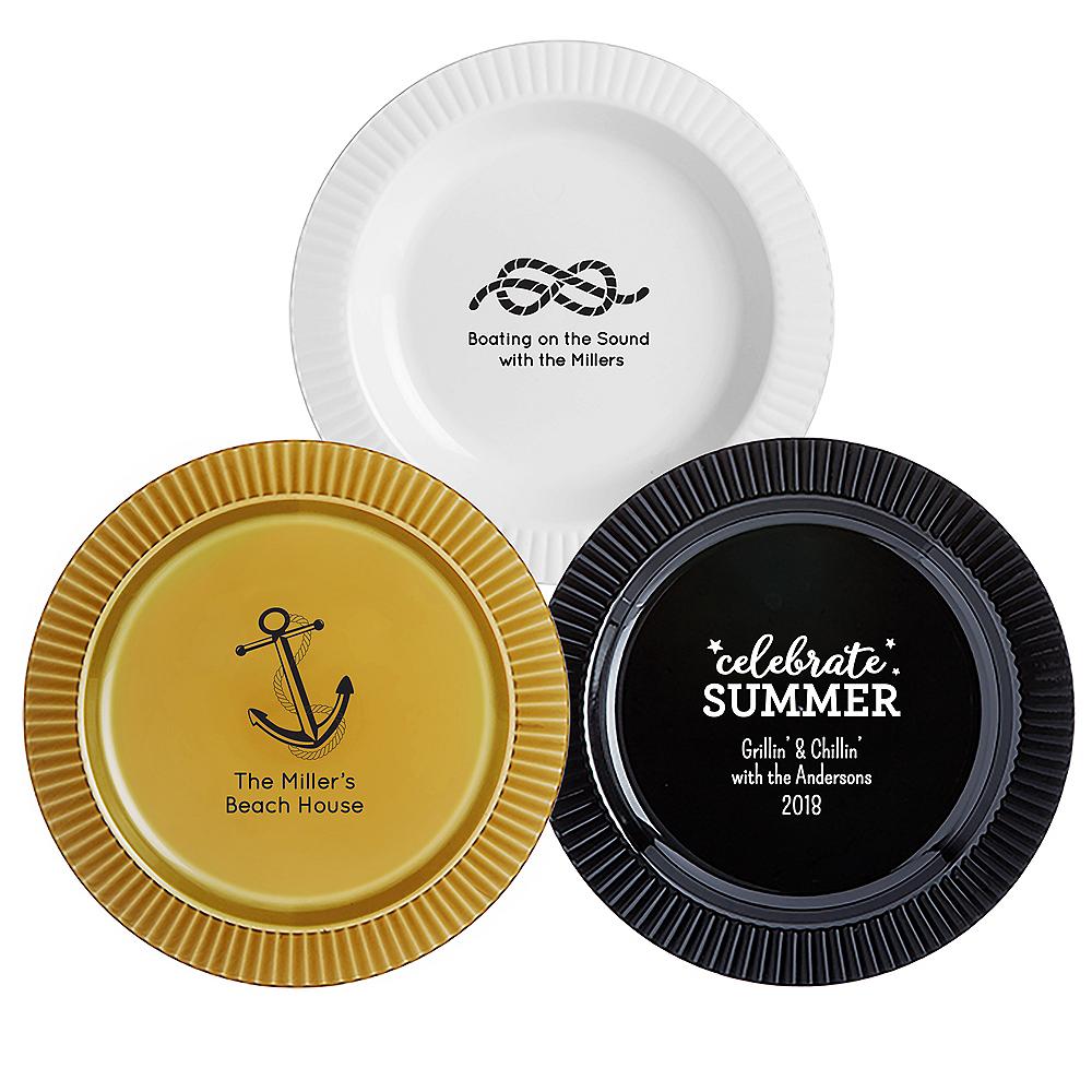 Personalized Summer Premium Plastic Dinner Plates Image #1