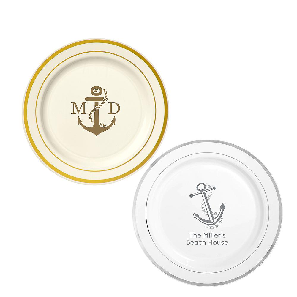 Personalized Summer Trimmed Premium Plastic Dinner Plates Image #1