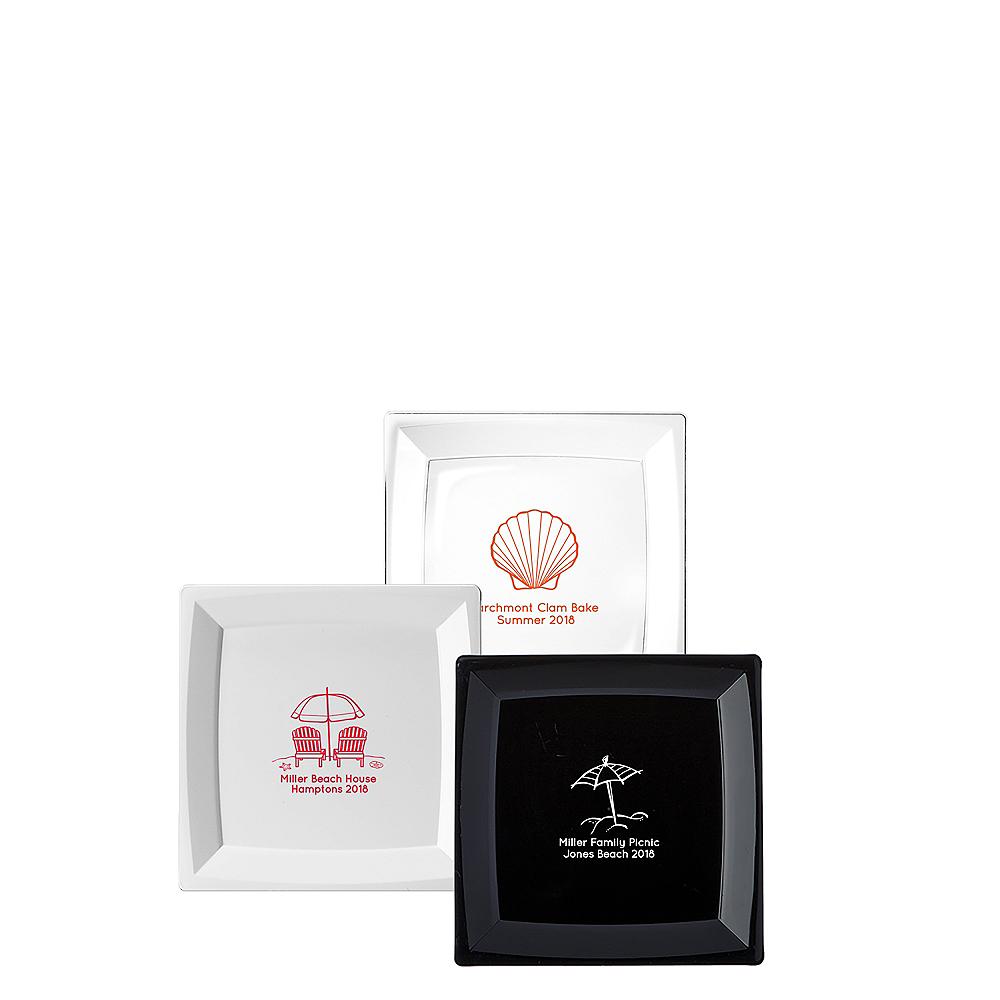 Personalized Summer Premium Plastic Square Appetizer Plates Image #1