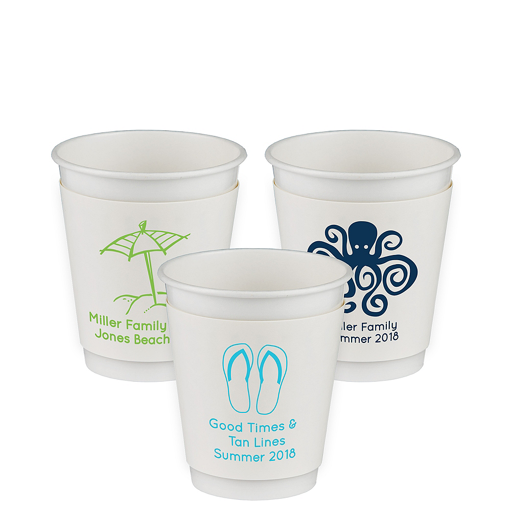 Nav Item for Personalized Summer Insulated Paper Cups 12oz Image #1