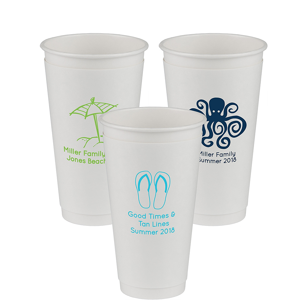 Personalized Summer Insulated Paper Cups 20oz Image #1