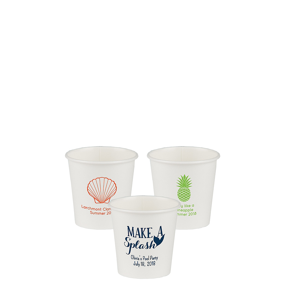 Personalized Summer Paper Cups 4oz Image #1