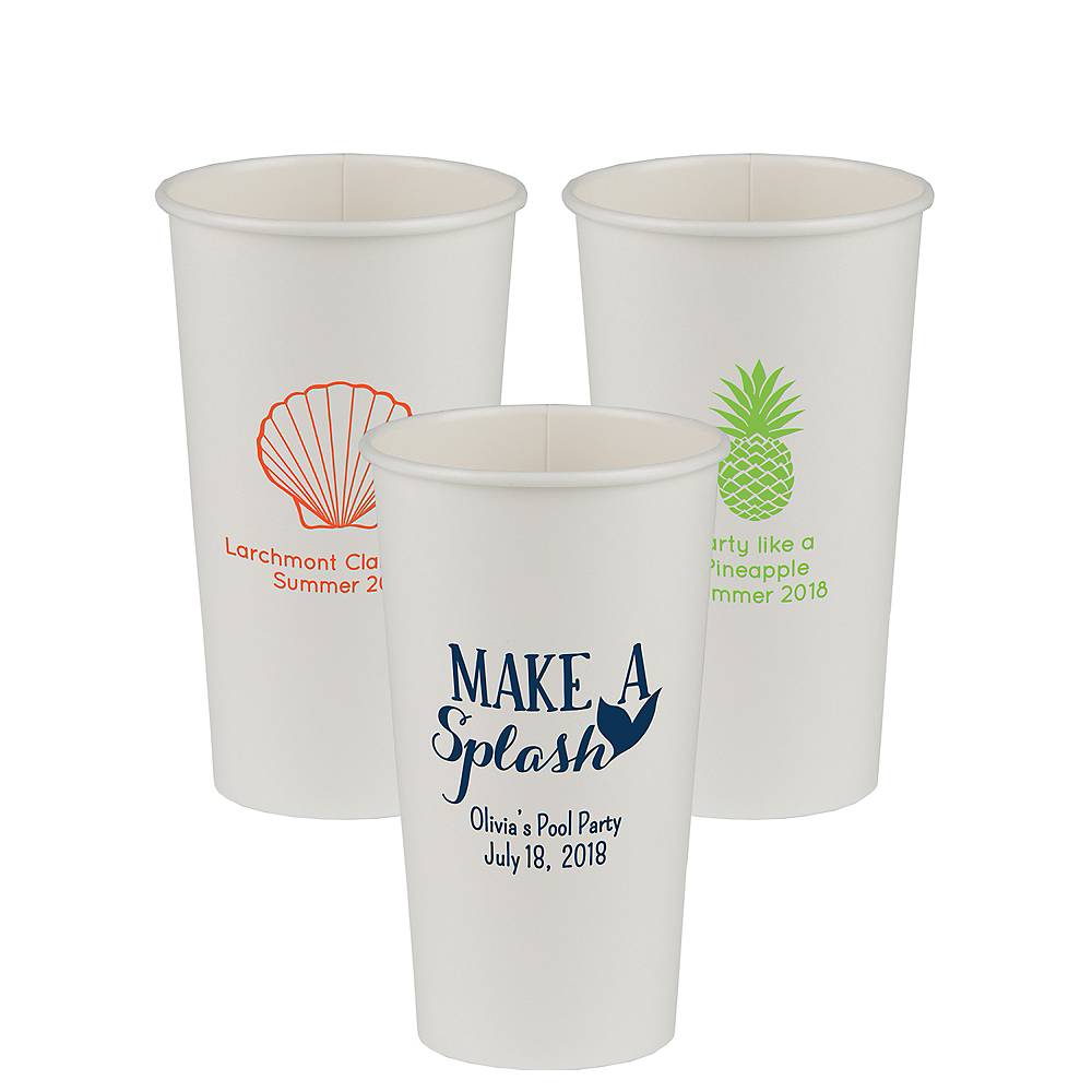 Personalized Summer Paper Cups 20oz Image #1
