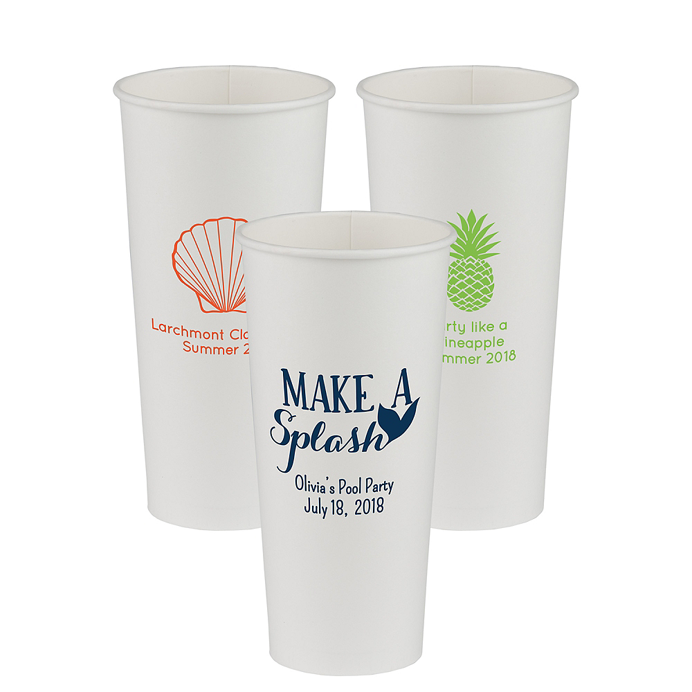 Personalized Summer Paper Cups 24oz Image #1