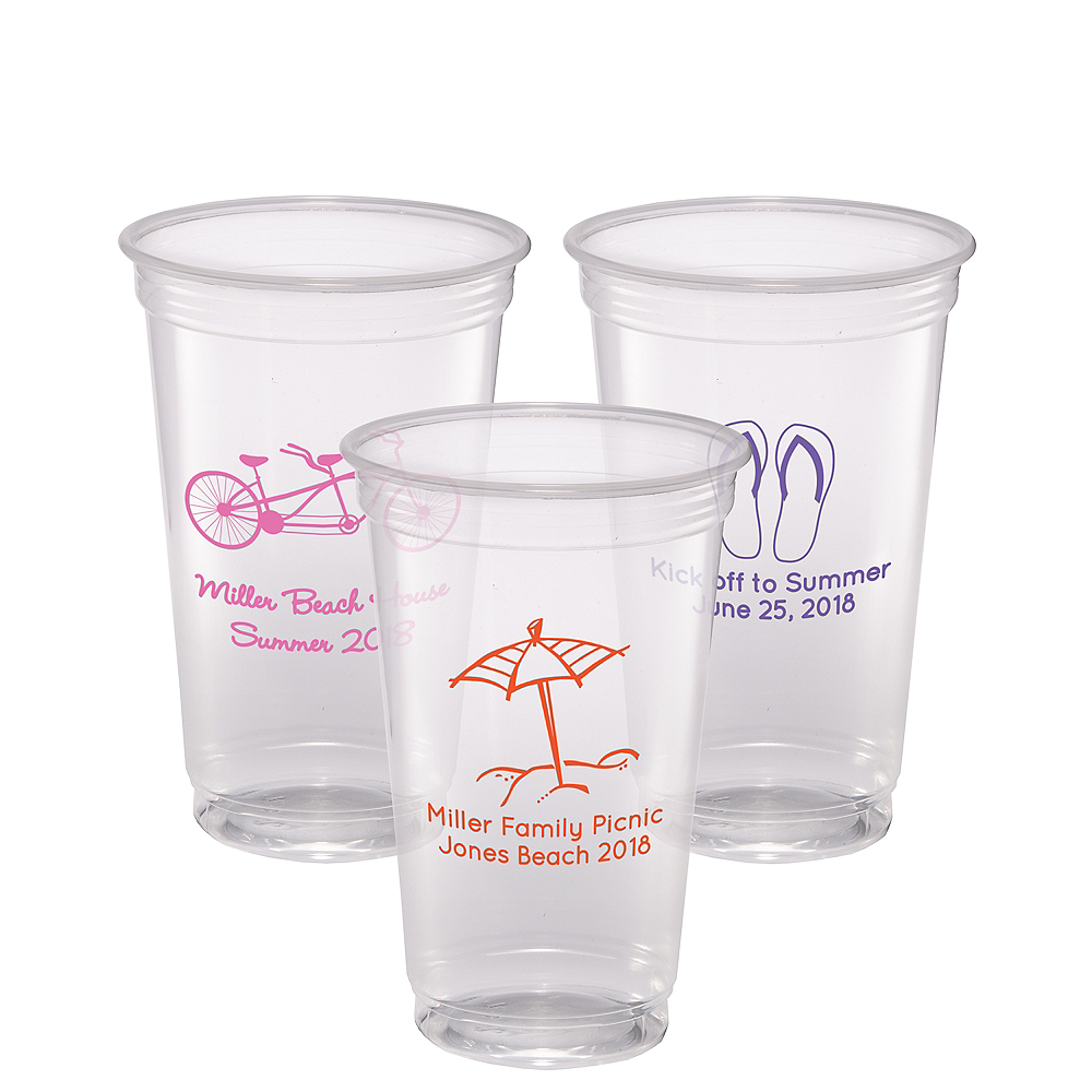 Personalized Summer Plastic Party Cups 20oz Image #1