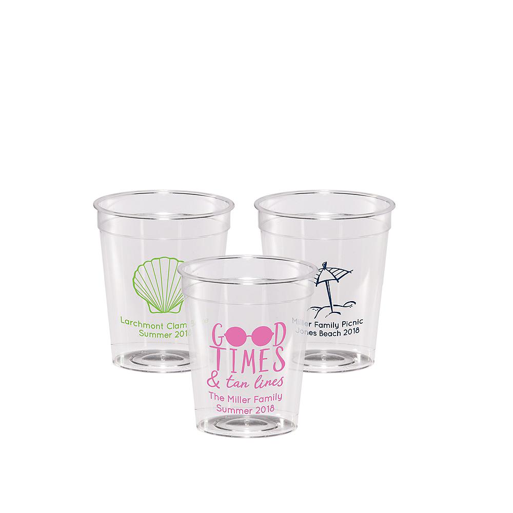 Personalized Summer Hard Plastic Shot Glasses 2oz Image #1