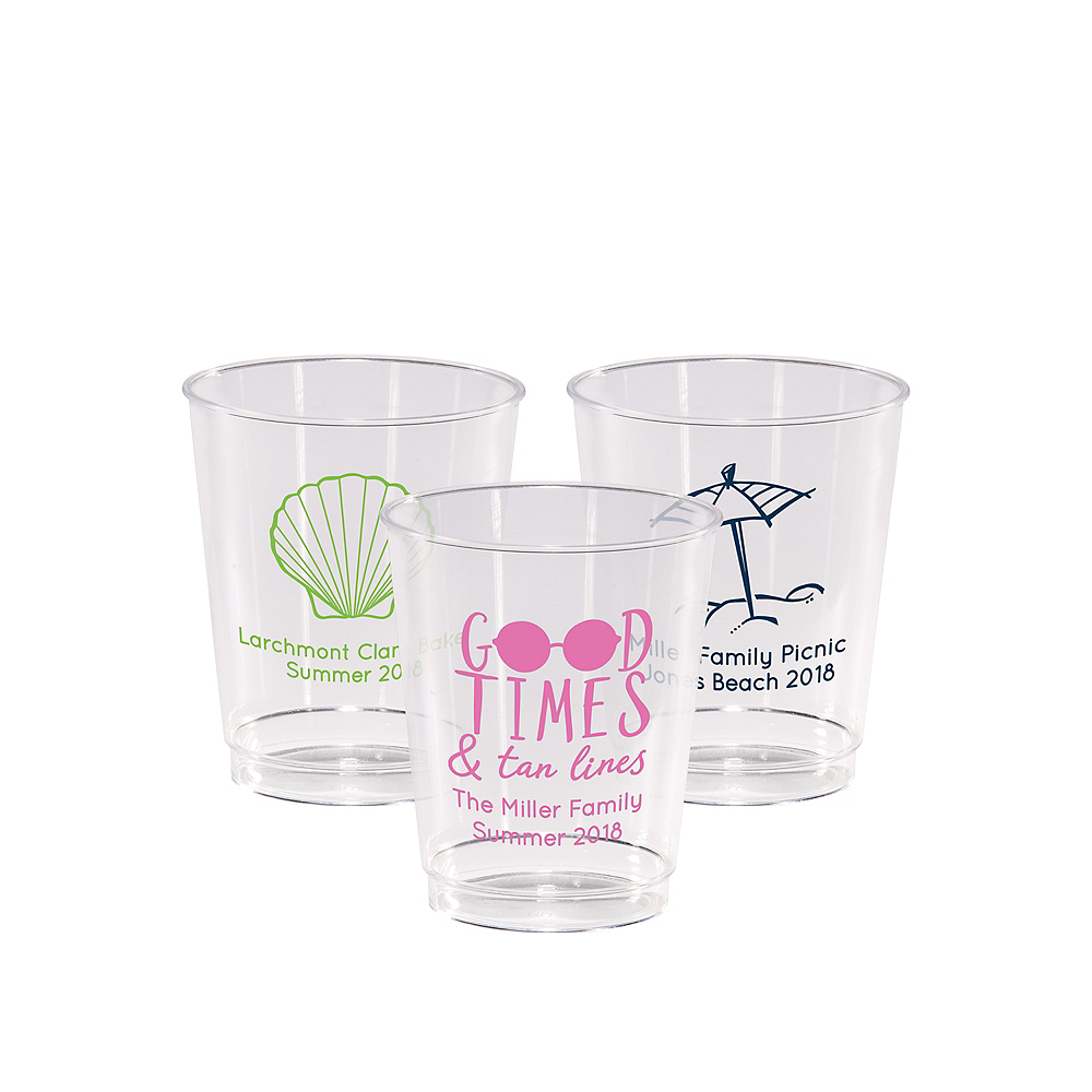 Personalized Summer Hard Plastic Cups 8oz Image #1