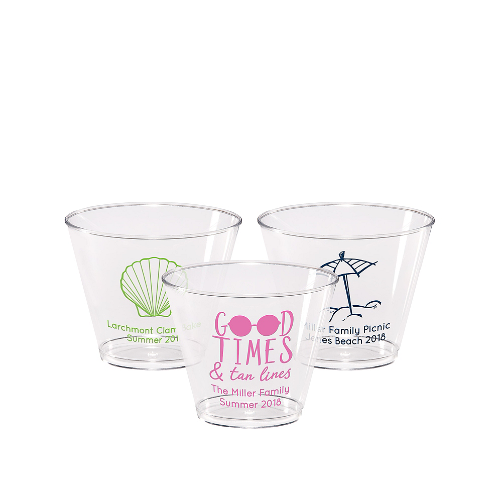 Personalized Summer Hard Plastic Cups 9oz Image #1