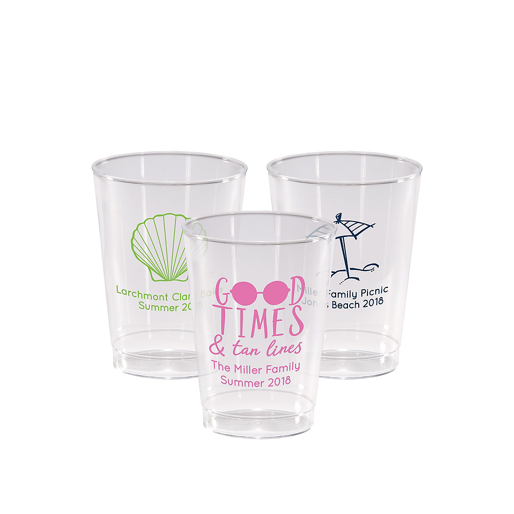 Personalized Summer Hard Plastic Cups 10oz Image #1