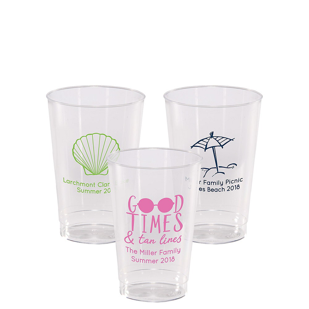Personalized Summer Hard Plastic Cups 12oz Image #1