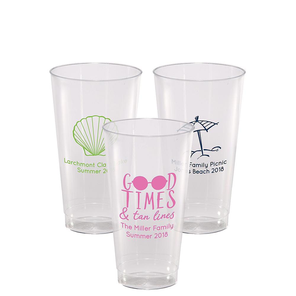 Personalized Summer Hard Plastic Cups 16oz Image #1