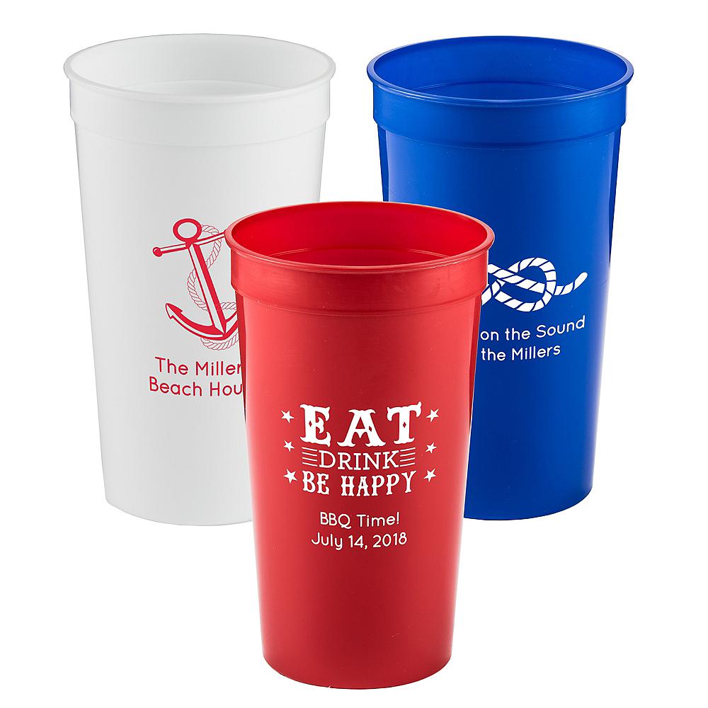 Personalized Summer Plastic Stadium Cups 32oz Image #1