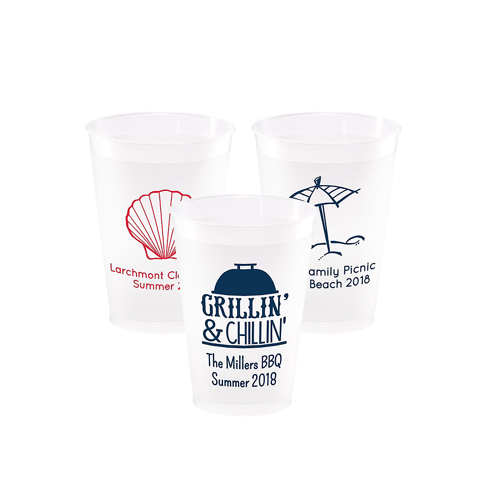 Personalized Summer Frosted Plastic Shatterproof Cups 12oz Image #1