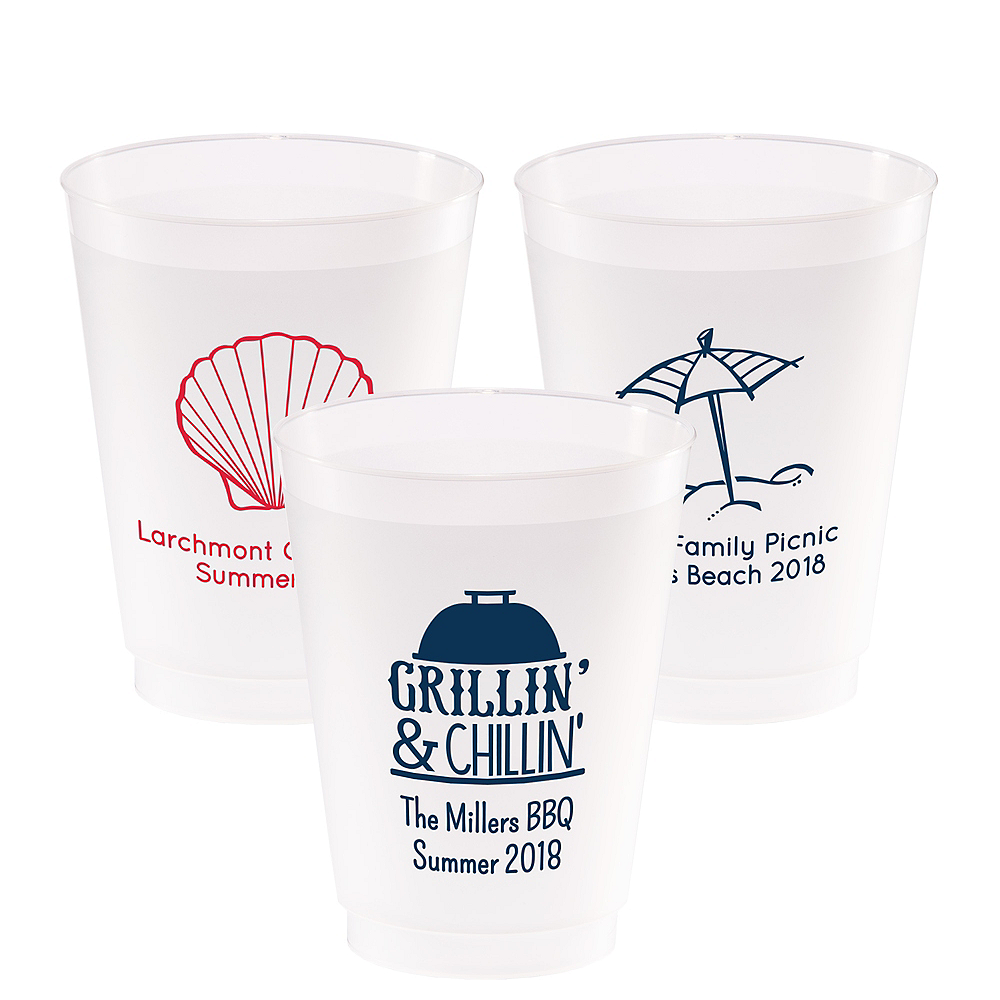 Personalized Summer Frosted Plastic Shatterproof Cups 20oz Image #1