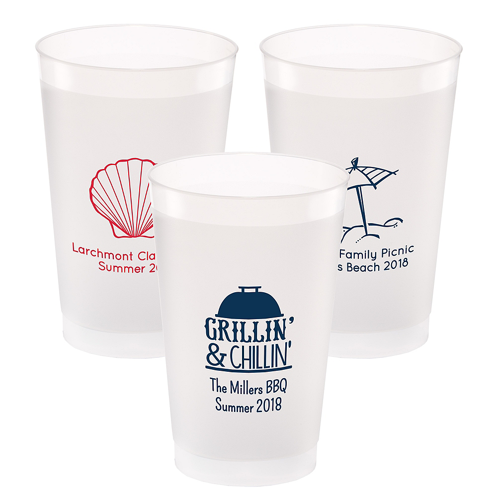 Personalized Summer Frosted Plastic Shatterproof Cups 24oz Image #1