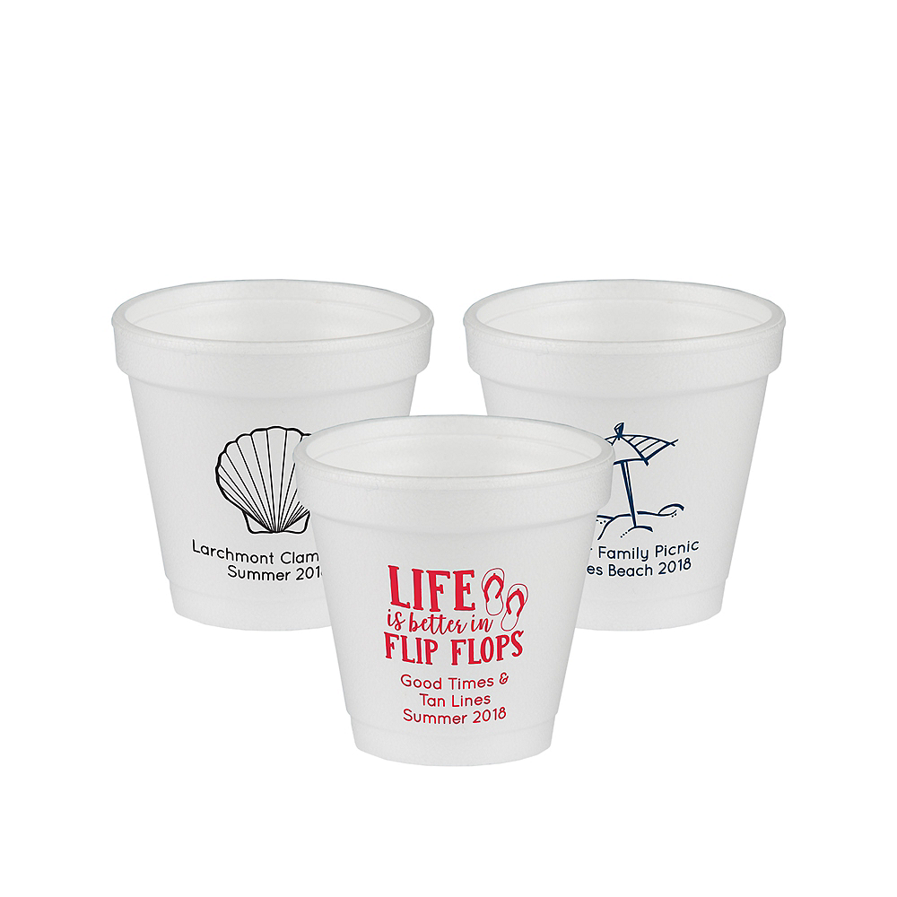 Nav Item for Personalized Summer Foam Cups 4oz Image #1