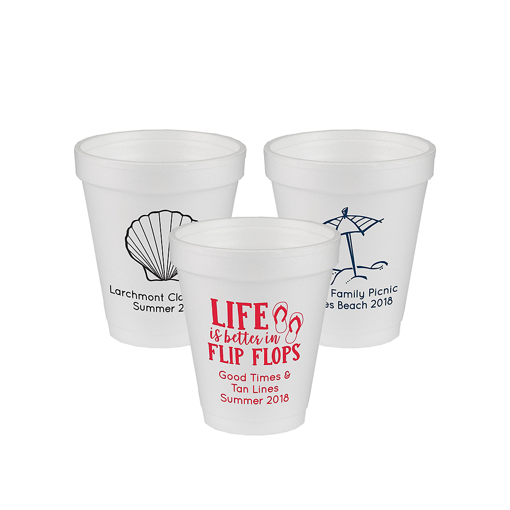 Personalized Summer Foam Cups 6oz Image #1
