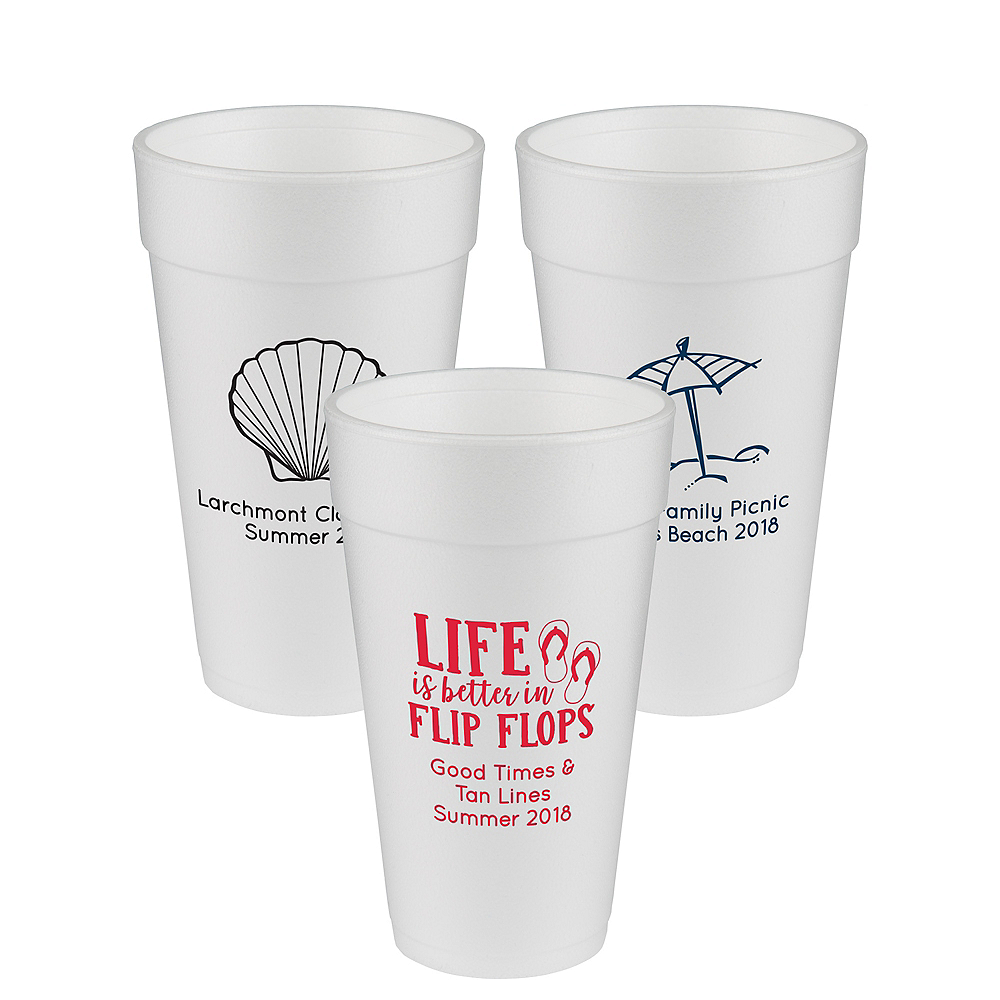 Personalized Summer Foam Cups 20oz Image #1