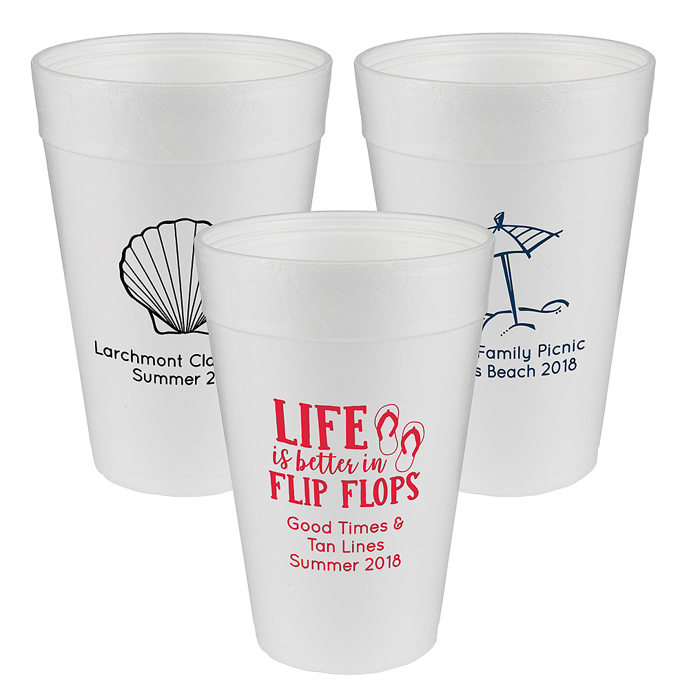Personalized Summer Foam Cups 32oz Image #1