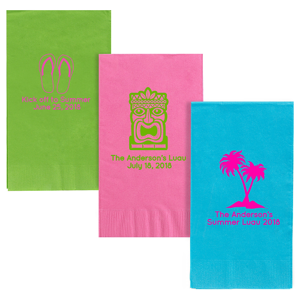 Personalized Luau Guest Towels Image #1