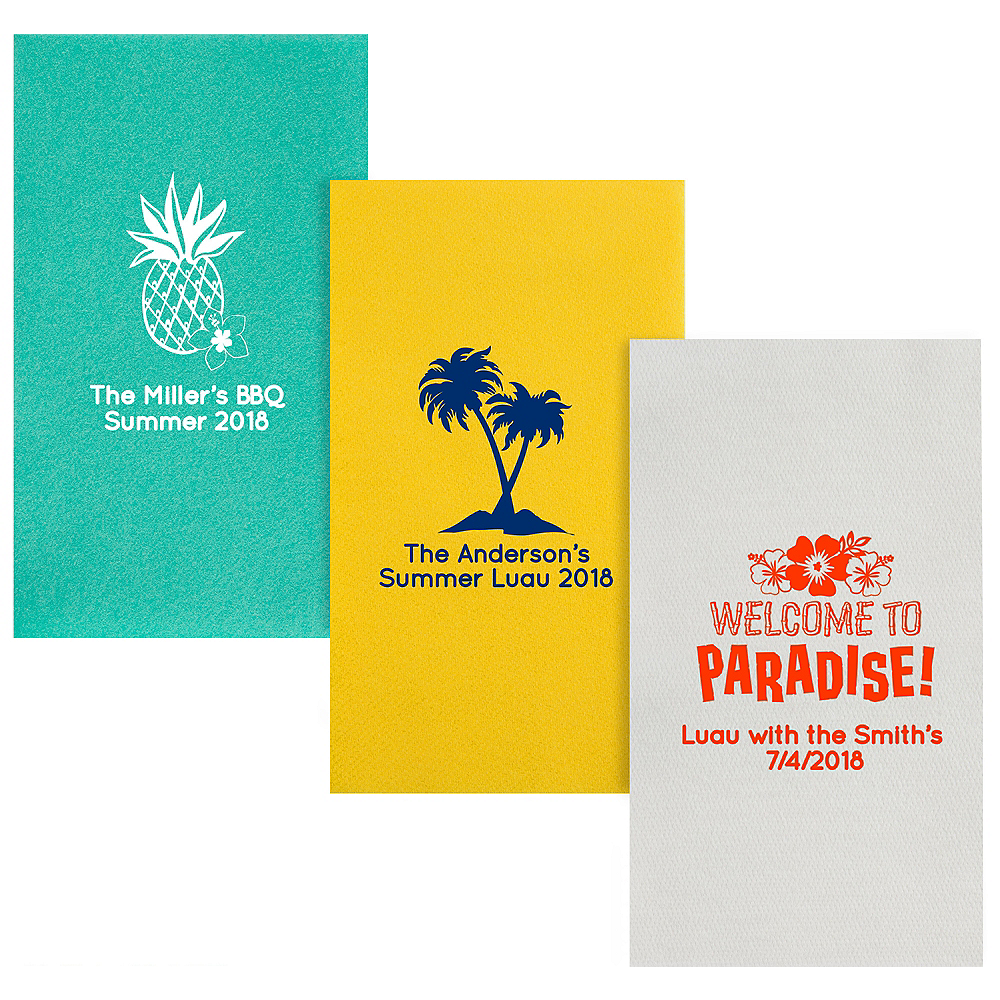 Personalized Luau Premium Guest Towels Image #1