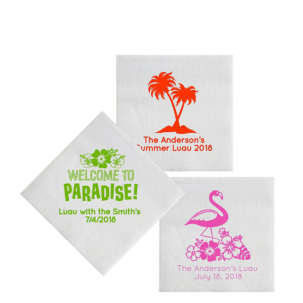 Personalized Luau Luxury Deville Beverage Napkins Image #1
