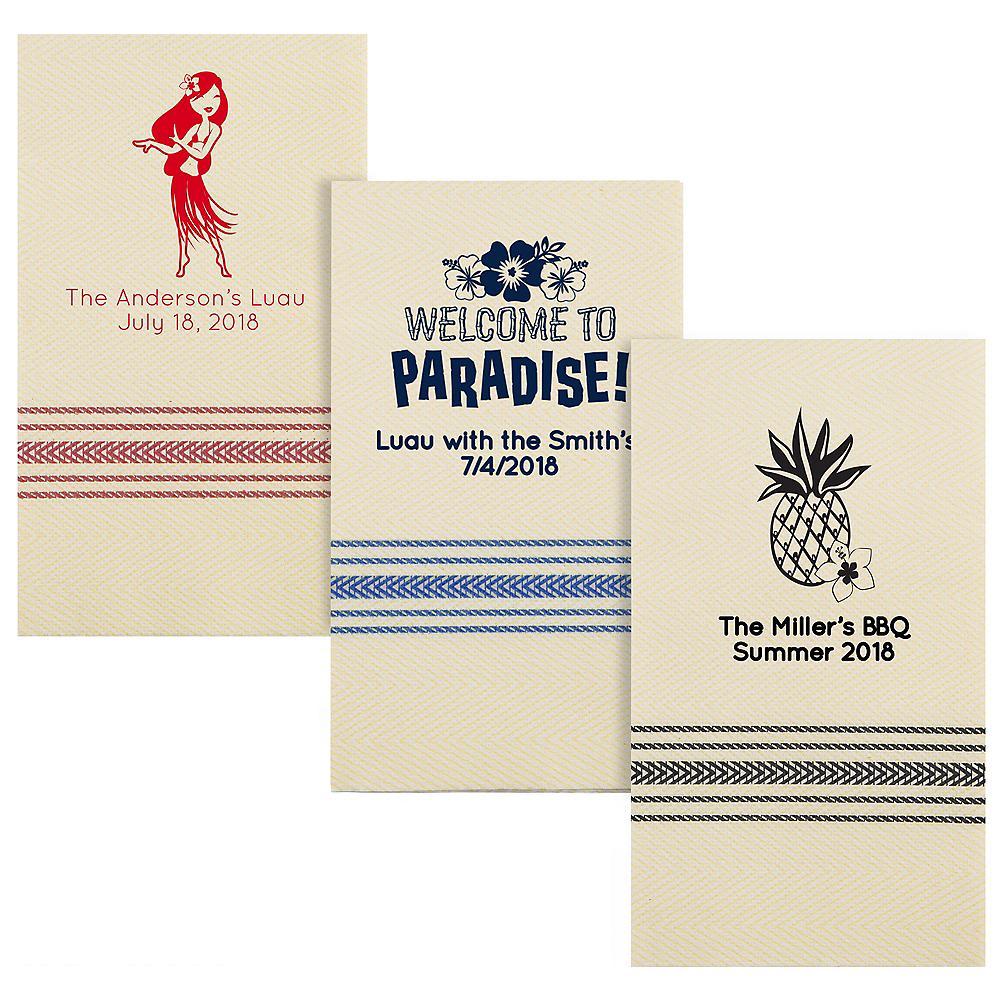 Personalized Luau Herringbone Guest Towels Image #1