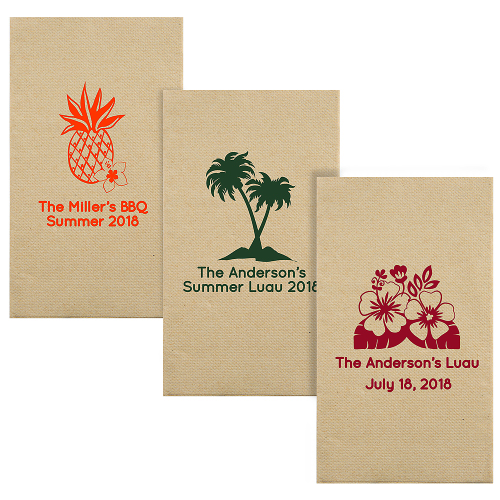 Personalized Luau Eco-Friendly Guest Towels Image #1