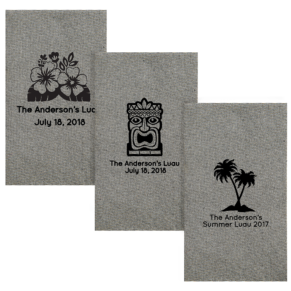 Nav Item for Personalized Luau Tweed Print Guest Towels Image #1