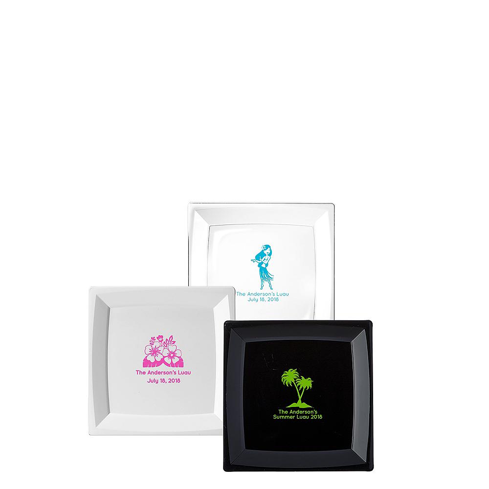 Personalized Luau Premium Plastic Square Appetizer Plates Image #1