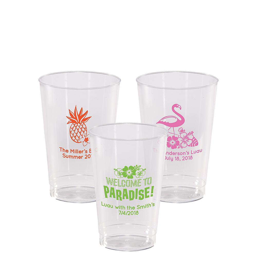 Personalized Luau Hard Plastic Cups 12oz Image #1