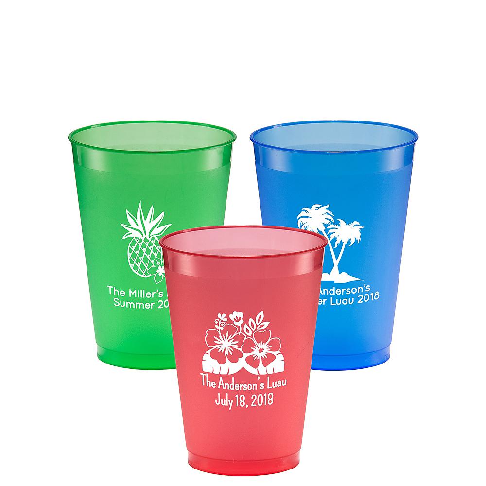 Personalized Luau Plastic Shatterproof Cups 12oz Image #1