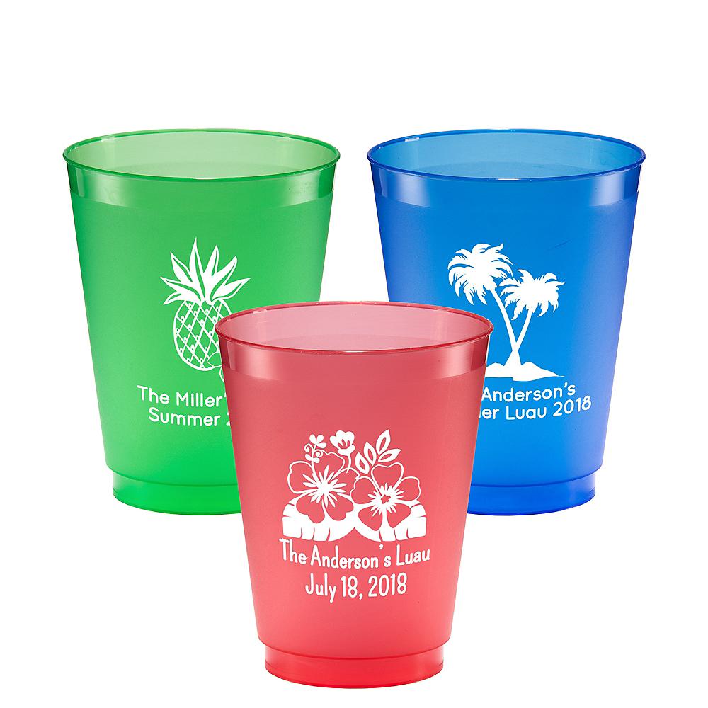 Personalized Luau Plastic Shatterproof Cups 16oz Image #1